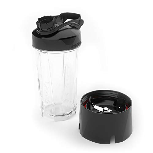 Blendtec GO (30 oz) Bottle, Reusable Single Serve Blender Cup, Includes Travel Lid, BPA-Free Jar, Clear