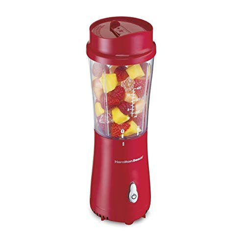 Hamilton Beach (51101R) Personal Blender with Travel Lid, Single Serve, For Shakes & Smoothies, Red (Renewed)
