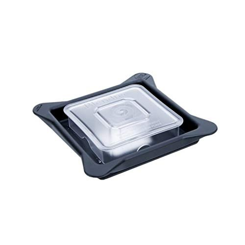 Blendtec Commercial Blender Lid | Soft Vented Gripper Mix-in with Square Clear Plug