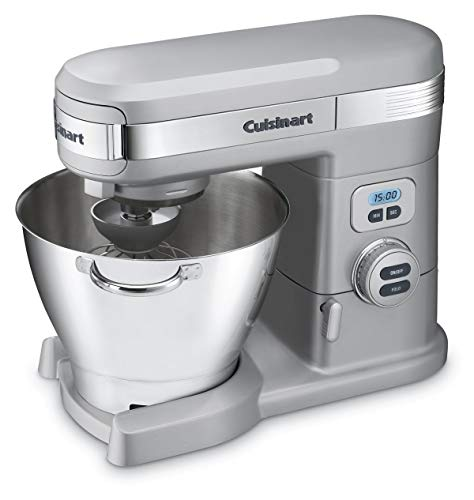 Cuisinart SM-55BC 5-1/2-Quart 12-Speed Stand Mixer, Brushed Chrome (Renewed)