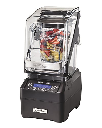 Hamilton Beach Commercial HBH755 The Eclipse Blender, 64 oz./2L, 3 hp, Quiet Blend Technology, 18.5' Height, 8.5' Width, 10.75' Length, Black