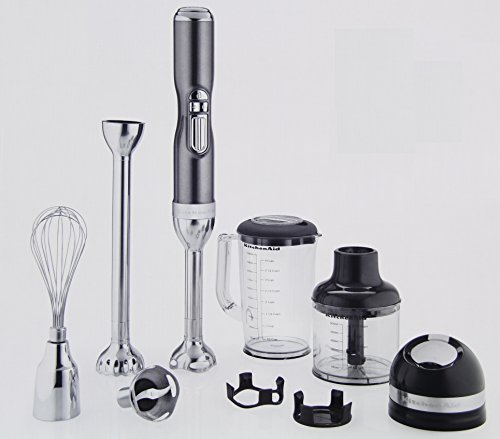 KitchenAid Pro Line 5 Speed Hand Blender, Sugar Pearl Silver