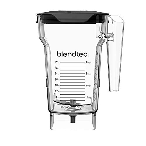 Blendtec FourSide Jar (75 oz), Four Sided, Professional-Grade Blender Jar, Vented Latching Lid, BPA-free, Clear