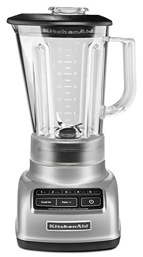 KitchenAid 5-Speed Blender RKSB1570MC, 56-Ounce, Metalic Chrome (Renewed)