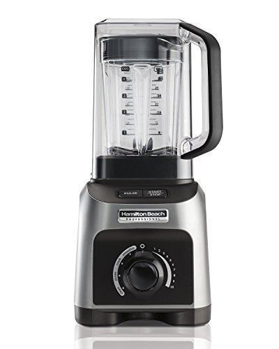 Hamilton Beach Professional Quiet Shield Blender, 1500W, 32oz BPA Free Jar, 4 Programs & Variable Speed Dial for Puree, Ice Crush, Shakes and Smoothies, Silver (58870)