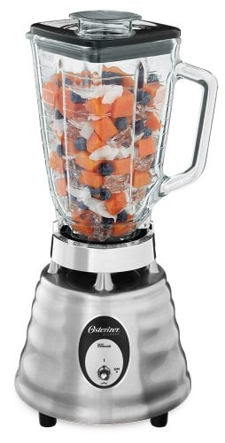 Oster 4093-008 6-Cup Glass Jar 2-Speed Beehive Blender, Brushed Stainless