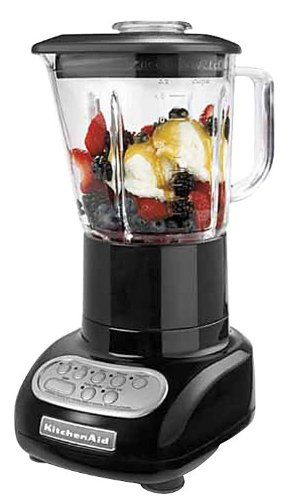 KitchenAid 5-Speed Blender with Glass Blender Jar, Onyx Black