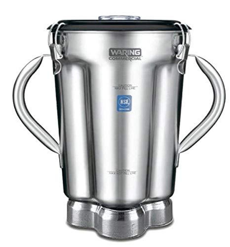 Waring Commercial CAC72 Stainless Steel 2-Handle Container with Blade Assembly and Lid, 1-Gallon,Silver