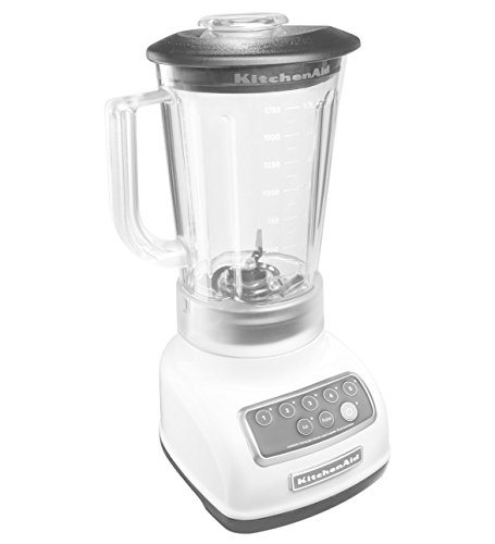 KitchenAid RKSB1570WH 5-Speed Blender with 56-Ounce BPA-Free Pitcher - White (Renewed)