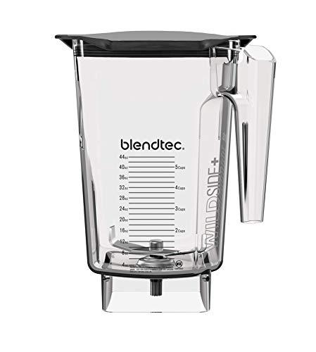 Blendtec WildSide+ 3 Quart Jar (90 oz), Five Sided, Professional/Commercial Grade Blender Jar, Soft Lid, BPA-free, Clear