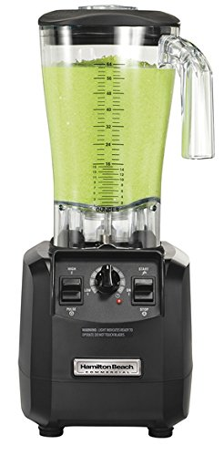 Hamilton Beach Commercial HBH550 The Fury Blender, 3 hp, 2 Speeds, Pulse, 64 oz./1.8 L Cutter Assembly Polycarbonate Container, 18.04' Height, 8.89' Width, 8.07' Length, Black