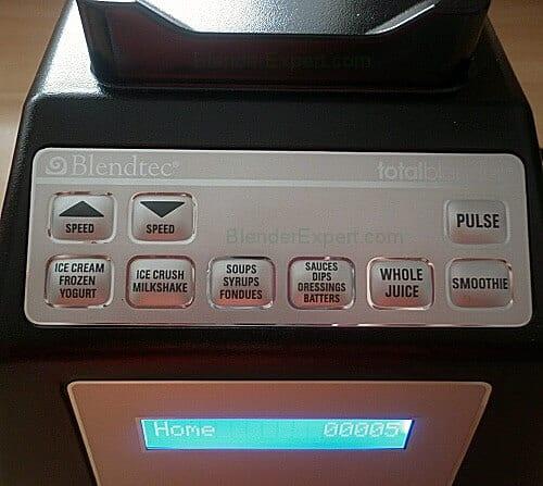 Blendtec Total Blender Control Panel