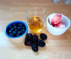 Ingredients for Sweet Berry Smoothie Recipe