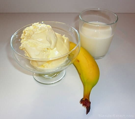 Ingredients for a Basic Banana Milkshake Recipe
