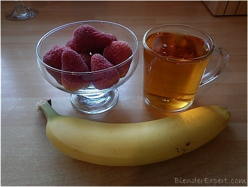 ingredients for dairy free strawberry and banana smoothie