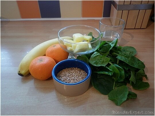 ingredients for a high fiber green smoothie