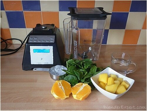 Ingredients For A Mango And Spinach Smoothie
