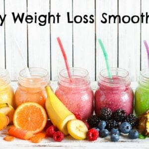 Healthy weight loss smoothies with fresh ingredients